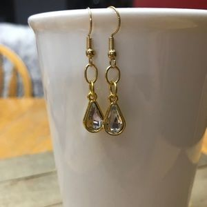 3 for $25 Handmade Gold Teardrop Earrings
